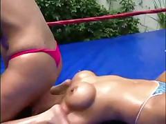 Two.Women.Wrestling.In.Oil (Francesca Le)