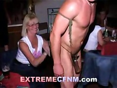 Extreme CFNM Male Strippers Perform for Horny Ladies