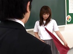 Teacher enjoys her hot student