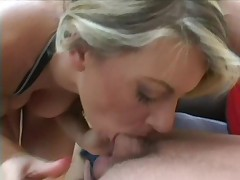 Vicky Vette takes two cocks