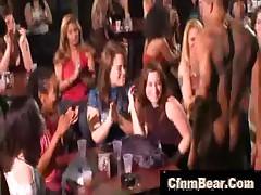 Black CFNM stripper at CFNM party