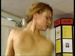 Slut Fucked On A Copy Machine!