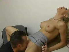 Hot Blonde Fucked In An Interview
