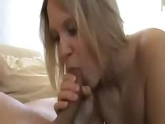 Hot amateur pregnant blonde sucks, fucks and gets creampied