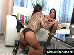 European stockings lesbians get naughty