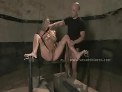 Blonde innocent prisoner bondage sex