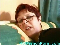 Horny french housewife fucking young stud