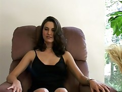 High end bitch gets fucked for money on a chair