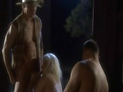 blonde takes on two cocks