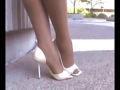 Ebony Pantyhose and Heels