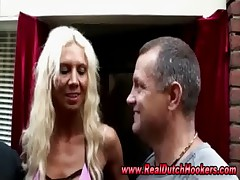 Amateur european hooker has threesome in reality red light sex