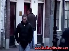 European hooker sucks naked guys cock in reality red light sex