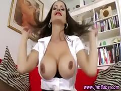 Amateur stockings hottie sucks cock