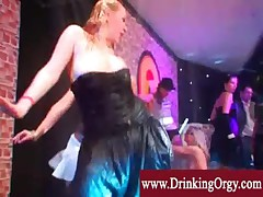 Tipsy european babes get wet and wild