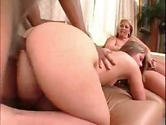 Daughter And Mom Go Black,