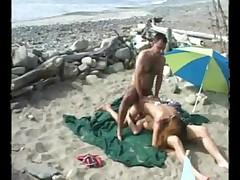 Two Bikini-clad Babes Found A Man On The Beach