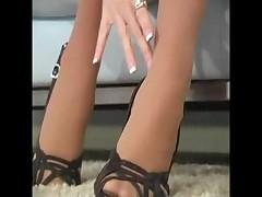 Jenna Haze's Pantyhose Striptease Will Get You Addicted