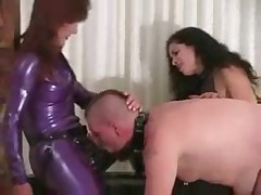 FemDom-Strapon Slaves-Double Domme Strapon Training 12m26s
