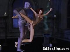 Satan Drills a 3D Babe!