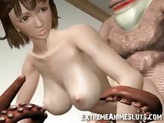 Tentacled Ogre Fucks 3D Babe!