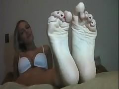 feet tease masturbation instruction