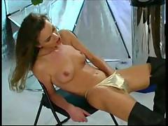Brunette In Boots Masturbation