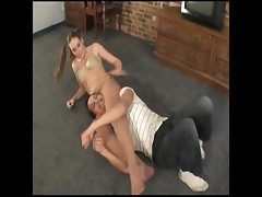 Sexy girl Chloe with pantyhose takes on the challenge