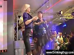Oral sex during an european party