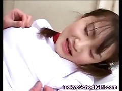 Japanese asian teen fingered hard