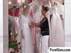 Wam scene with hot bride