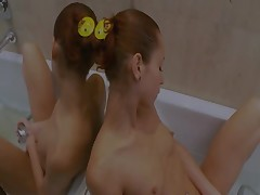 Natashas golden shower in the whirpool