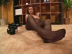 Nice hot pantyhose legs