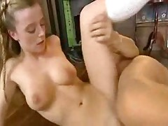 Sexy blonde punished by hard cock