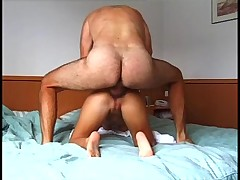 Nice amateur couple having anal sex