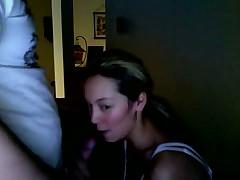 Hot girl blowjob on webcam