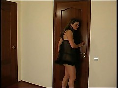 Young Pussy Enters the Bathroom