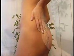 Kathy Strips In The Bedroom