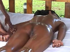 Teen Chocolate Lesbian Massage