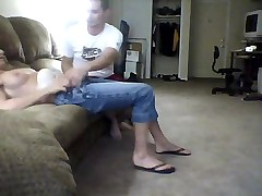 Fooling around on couch