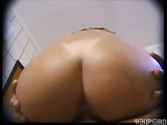 Ass fucking in the kitchen -