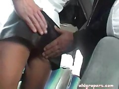 Brunette groped on bus and fucked (1 of 4)
