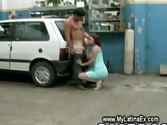 Latina ex wife fucking the car mechanic