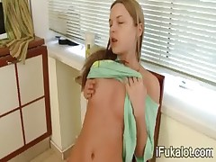 masturbate vagina in the kitchen
