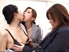 Schoolgirl In Uniform Licking Fingering Her Teachers Pussy Rubbing With Her Tits On The Desk In The