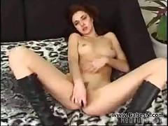 Hot redhead fucking self