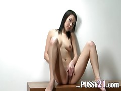Mongolian chick with hairy pussy