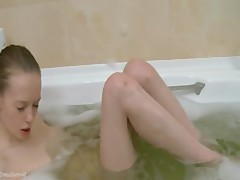 czechian super skinny girl in the shower