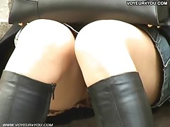 Upskirt sexy viewing girls street