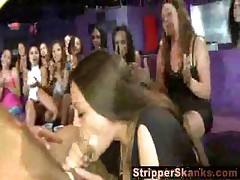 Birthday girl sucks stripper to completion