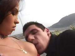 Nice brunette anal
